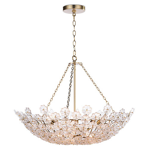 Charlotte Chandelier, Natural Brass