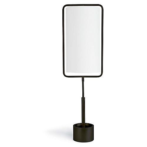 Geo Rectangle Table Lamp, Bronze