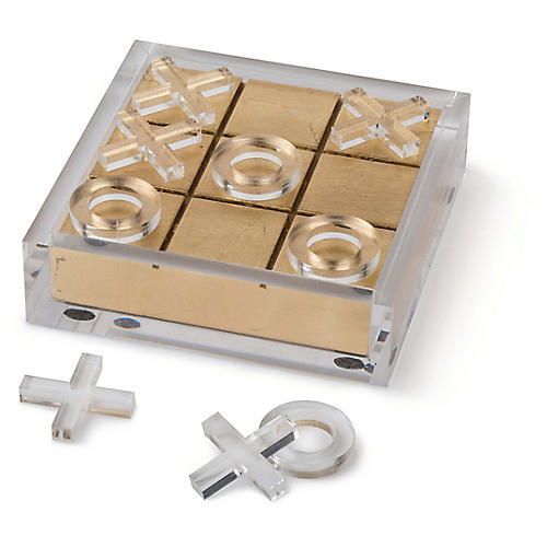 "7"" Acrylic Tic-Tac-Toe Set, Clear"