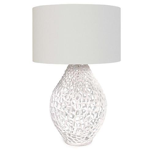 Jett Table Lamp, White