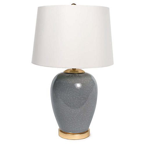 Anne Table Lamp, Gray-Blue