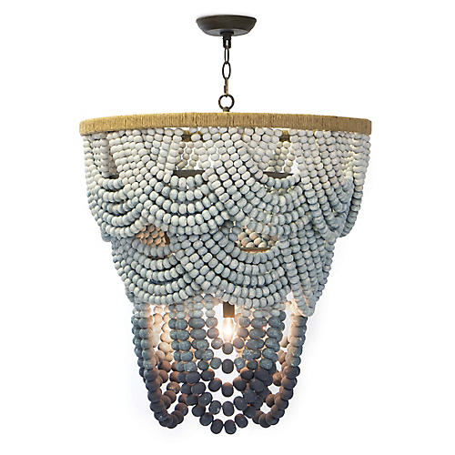 Ombré Chandelier, Blue