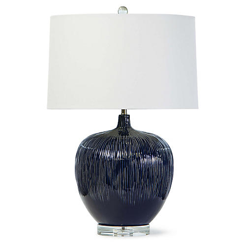 Wisteria Table Lamp, Blue