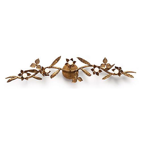 Trillium Sconce, Brass