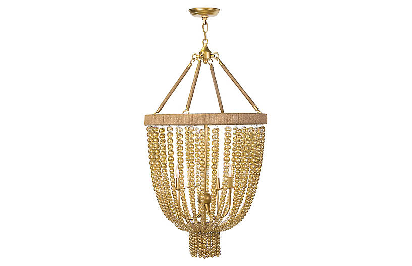 Dior Small Chandelier, Gold Leaf