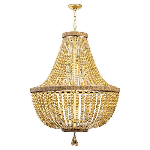 Dior Large Chandelier, Gold Leaf