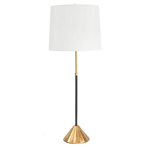 Parasol Table Lamp, Gold Leaf