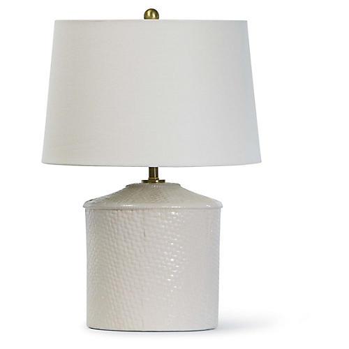Panama Table Lamp, White