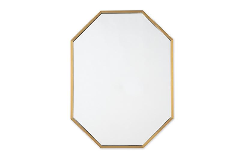 Hale Wall Mirror, Brass