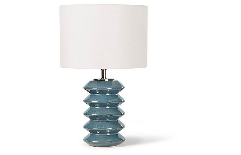 Teton Table Lamp, Blue