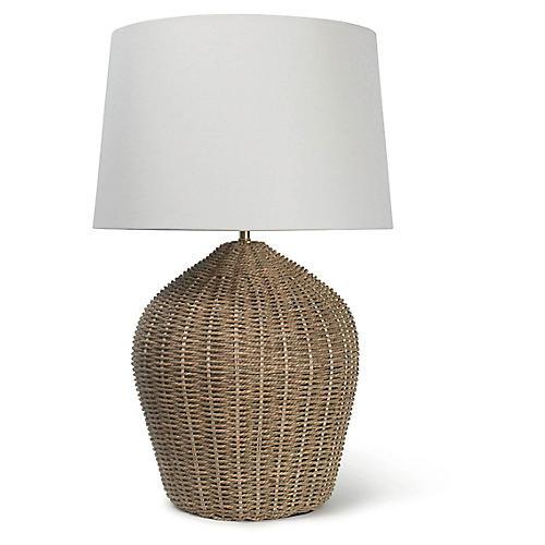 Georgian Table Lamp, Natural