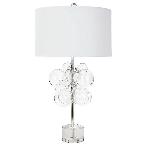 Bubbles Table Lamp, Clear