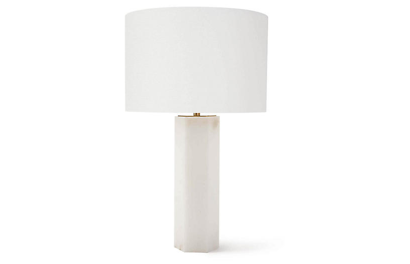 Stella Table Lamp, Natural Stone