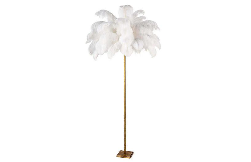 Josephine Floor Lamp, Gold Leaf