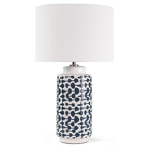 Cailee Table Lamp, Indigo