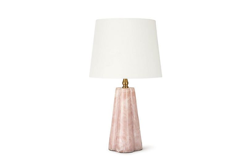 Joelle Mini Accent Lamp, Rose