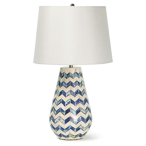 Cassia Table Lamp, Blue