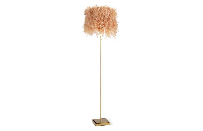 Jasmine Floor Lamp, Pink