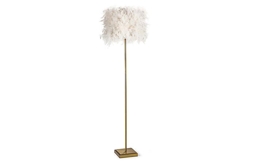 Jasmine Floor Lamp, White