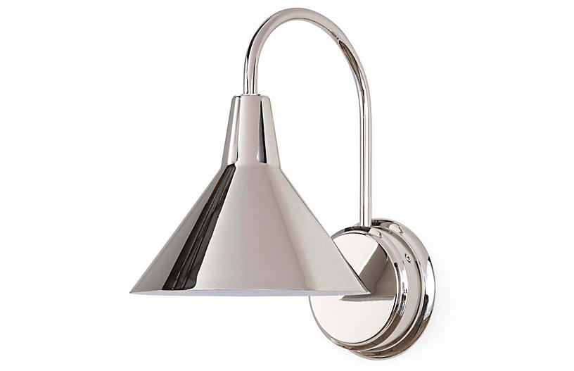 Dublin Sconce, Polished Nickel