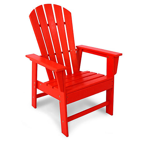South Beach Adirondack Armchair, Sunset Red