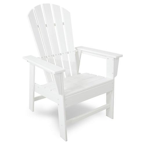 South Beach Adirondack Armchair, White