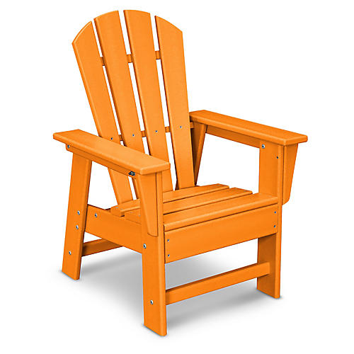 Kids' Adirondack Chair, Tangerine