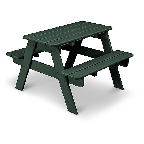 Kids' Picnic Table, Green