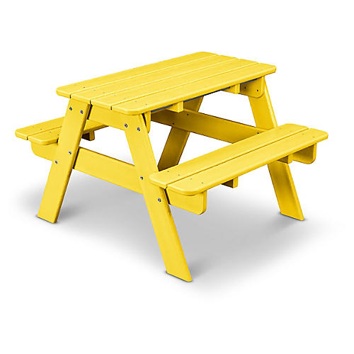 Kids' Picnic Table, Lemon