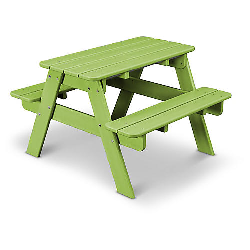 Kids' Picnic Table, Lime