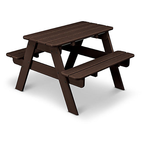 Kids' Picnic Table, Brown