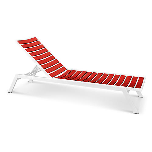 Euro Chaise, Sunset Red