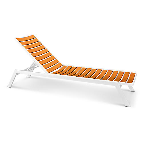 Euro Chaise, Tangerine