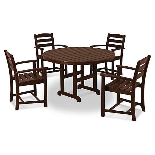 La Casa Café 5-Pc Dining Set, Brown