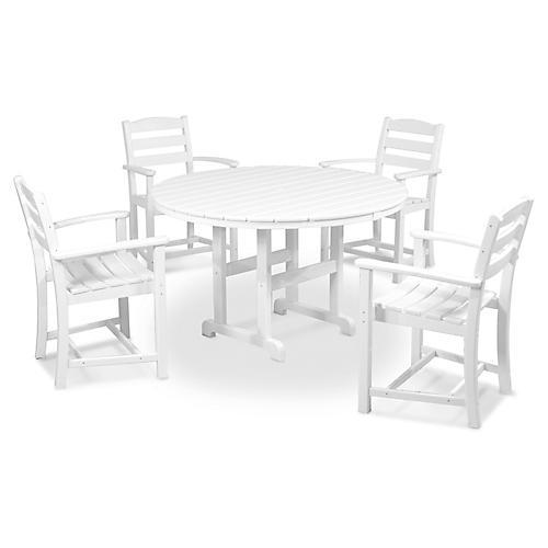 La Casa Café 5-Pc Dining Set, White