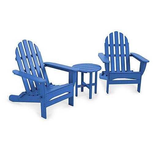Classic 3-Pc Adirondack Set, Pacific Blue