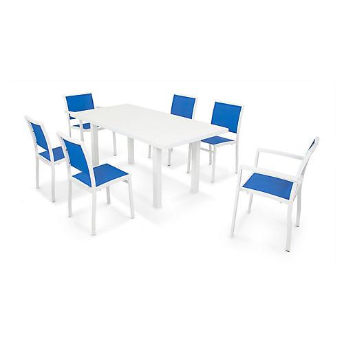 Bayline 7-Pc Dining Set, Blue