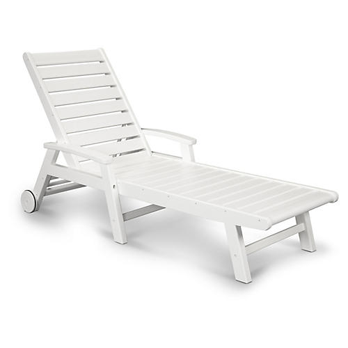 Signature Chaise, White