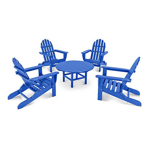 Classic 5-Pc Adirondack Set, Blue