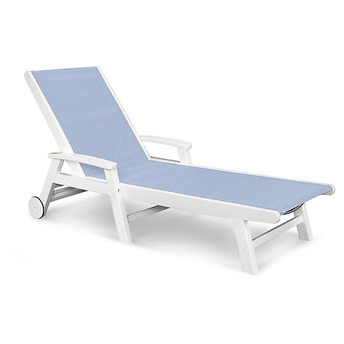 Coastal Chaise, Light Blue