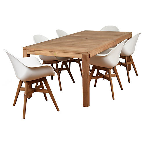 Charlotte 7-Pc Amazonia Dining Set, Natural
