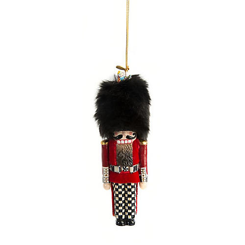 Buckingham Guard Nutcracker Ornament, Red/Black