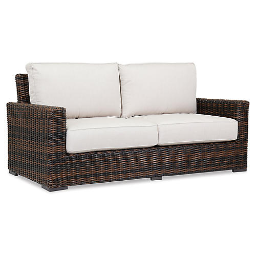 Montecito Loveseat, Canvas Flax
