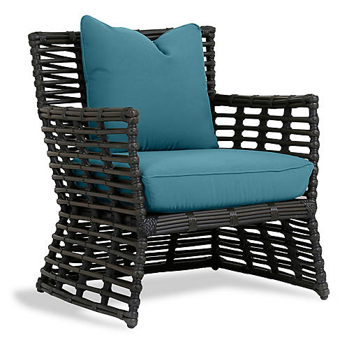 Venice Club Chair, Turquoise