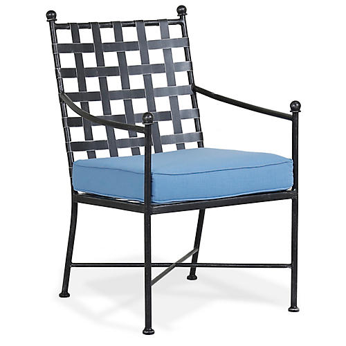 Provence Outdoor Armchair, Blue