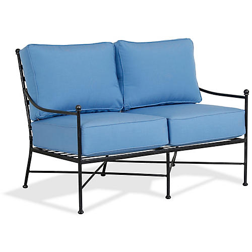 Provence Loveseat, Blue