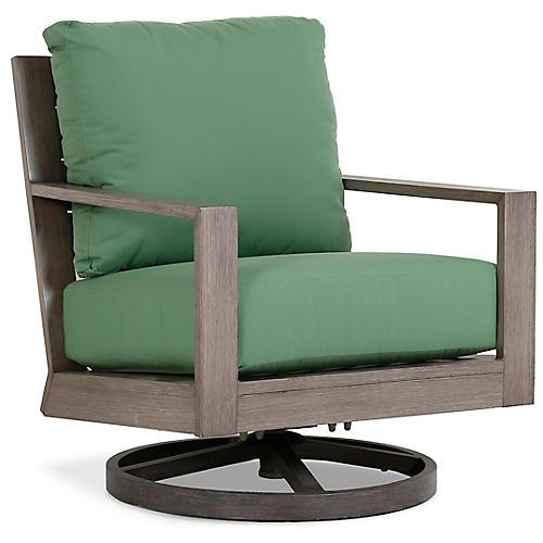 Laguna Swivel Club Chair, Green