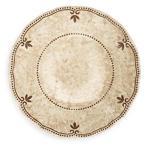 S/4 Rustica Melamine Pasta Plates, Bone White
