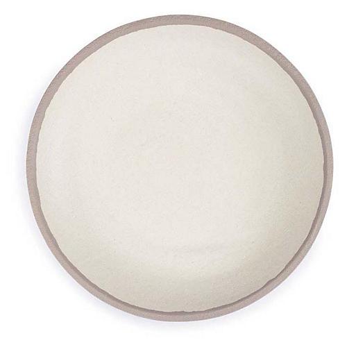 S/4 Potter Melamine Salad Plates, Beige/Gray