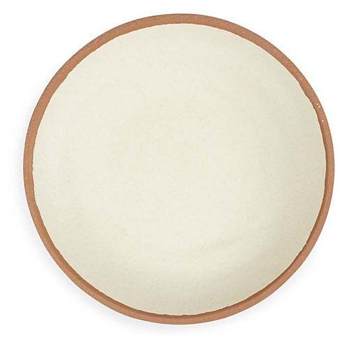 S/4 Potter Melamine Salad Plates, Beige/Terracotta